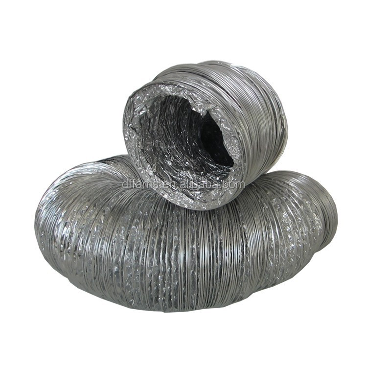 silent insulated aluminium flexible duct