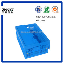 Plastic mesh logistic container with top cover collapsible plastic Apple box