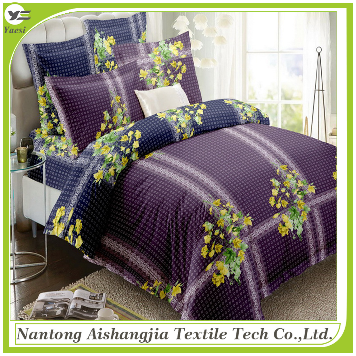 High quality machine grade bedding sets 100% cotton wholesale for xcmg spare parts