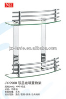 bathroom accessory sets dual layer glass rack