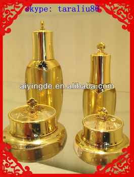 2013 NEW Luxury 15G Gold Cosmetic Package Cream Jar