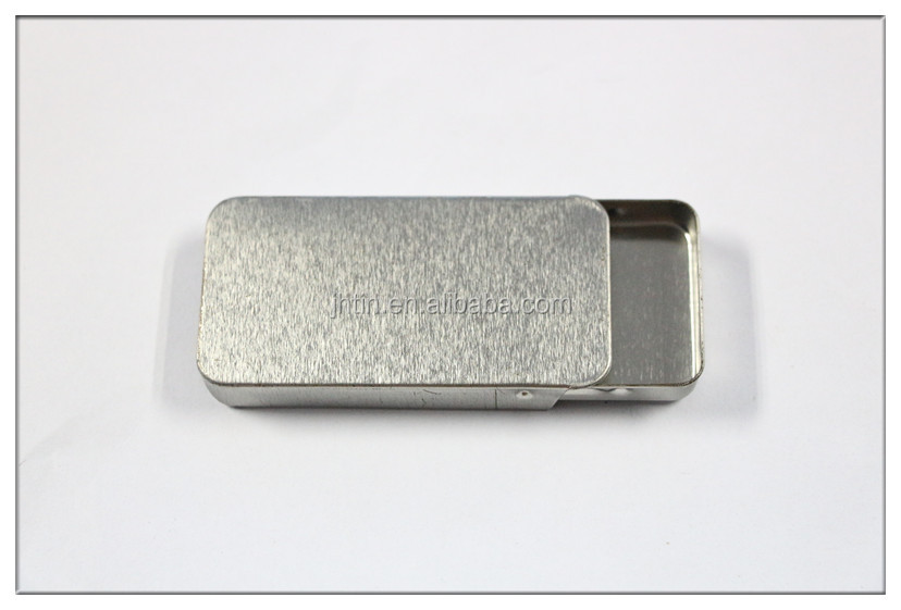Alibaba China custom printed silver sliding open mint tin box candy