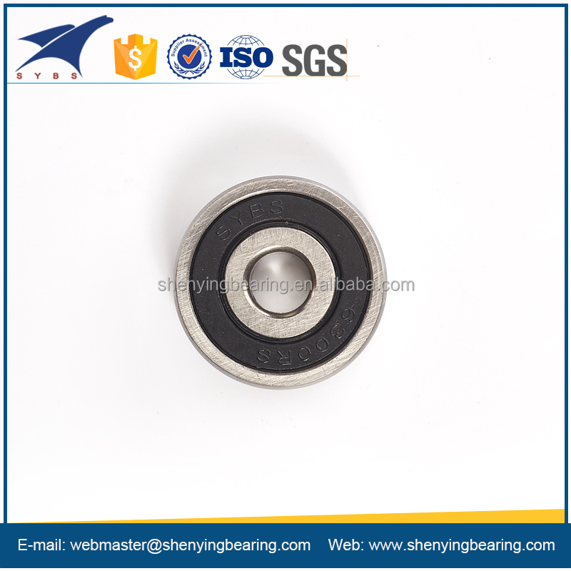 Rubber Seal single row 638 deep groove ball bearing