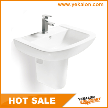 Low Price Bathroom Sinks Handmade Wash Basinfrom China Manufacture Half  Pedestal Basin