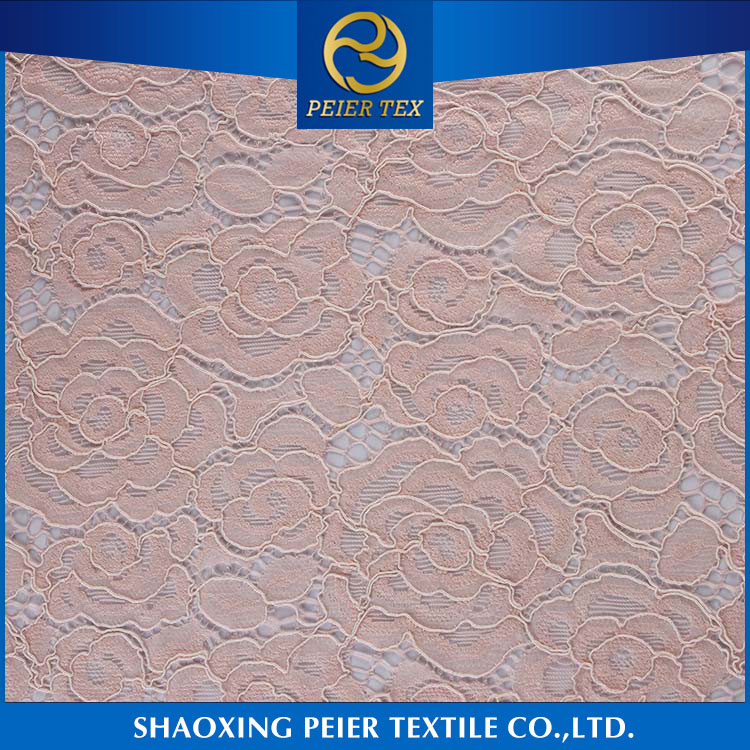 Dress fabric supplier shaoxing soft german lace fabric