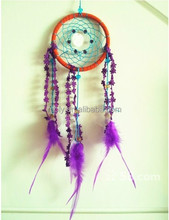 Colorful Fumigation Feather Dreamcatcher Craft, Indian Home Decoration Manufacture