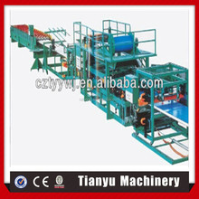 Alibaba producer of sandwich panel production line/ metal title machine /Heat retaining color steel sandwich panel production