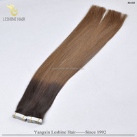 32inch ombre remy tape in hair 2.5g/pc Alibaba express Wholesale top quality virgin remy hair super thin tape