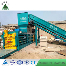 Hydraulic Full Automatic Waste Paper Cardboard Horizontal Baler for Recycling Machine