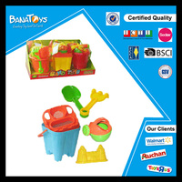 Kids game plastic buckets and spades beach toy