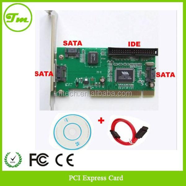 3 Port SATA +1 IDE PCI Controller RAID Card w/SATA cable