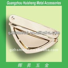 Luxury Metal Bag Accessories Metal Press Buckle Metal Insert Buckle Fashion Handbag Buckle