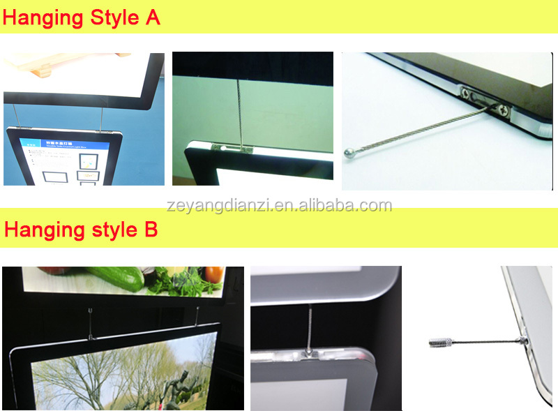 2017 Christmas NEW A2 A3 A4 Cable Hang Real Estate Agent Window LED Display,LED Sign Frame