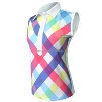 Custom full sublimated women golf shirts ladies polo clothing