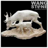 Animal Stone Goat Statue for Decoration
