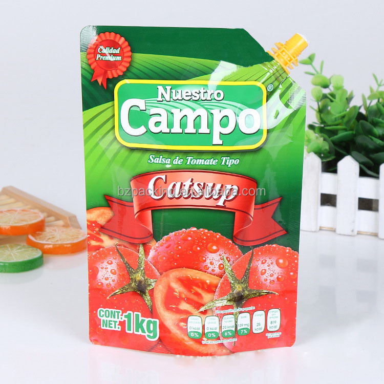 OEM plastic packaging with spout packet juice