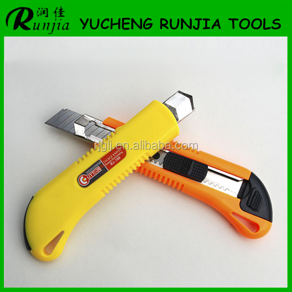 stainless steel blades vinyl cutting china factory utility knife T188