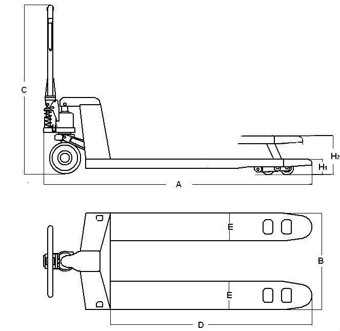 Transpalette Manuel Eco 2000kg