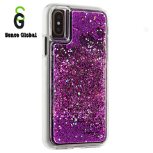 Phone casing liquid bling bling mobile case for iphone X glitter phone cover