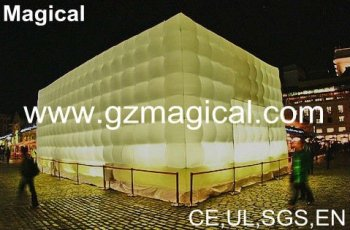 Outdoor inflatable lighting cinema tent
