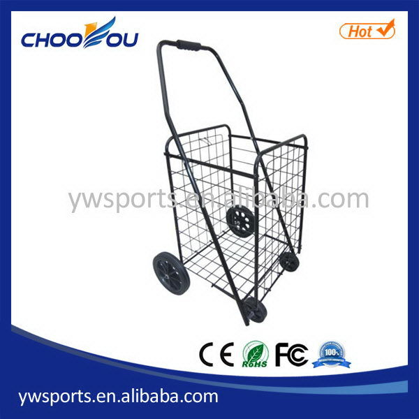 Alibaba china top sell 6 wheel foldable market shopping trolley
