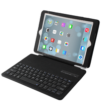 New trendy PU Leather Wireless Bluetooth Removeable Keypad Keyboard Case for iPad Air-IP052