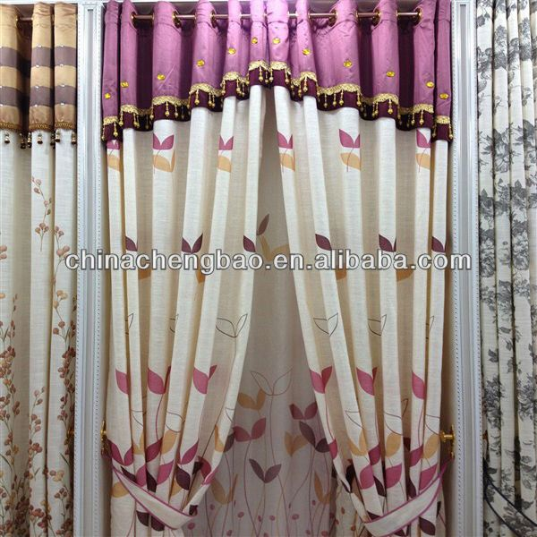 very cheap custom manual jute wholesale ready made kitchen curtains