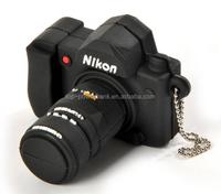 animal type leather keychains, camera shaped pvc usb 8GB stick