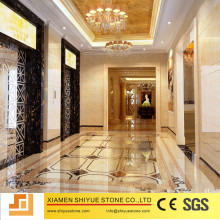 Hotel Interior Floor Designs Rectangle Marble Medallions Patterns