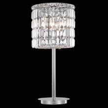 african style cheap home decorative clear glass crystal table lamp with power outlet