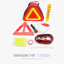 Auto Emergency Tool Kit with Warning Triangle and Booster Cable For Car Emergency Repair