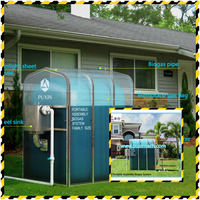 China Puxin Cheap Mini Size Portable Assembled Membrane Biogas Plant