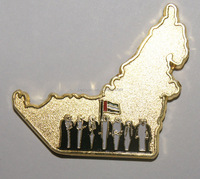 dubai souvenirs UAE map&7 sheikhs fridge magnets for national day gifts