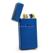 Flameless USB rechargeable double arc lighter with customized logo -TQ578