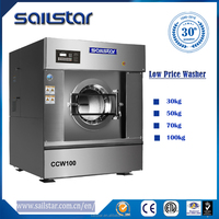 30kg automatic laundry washing machine for industrial laundry