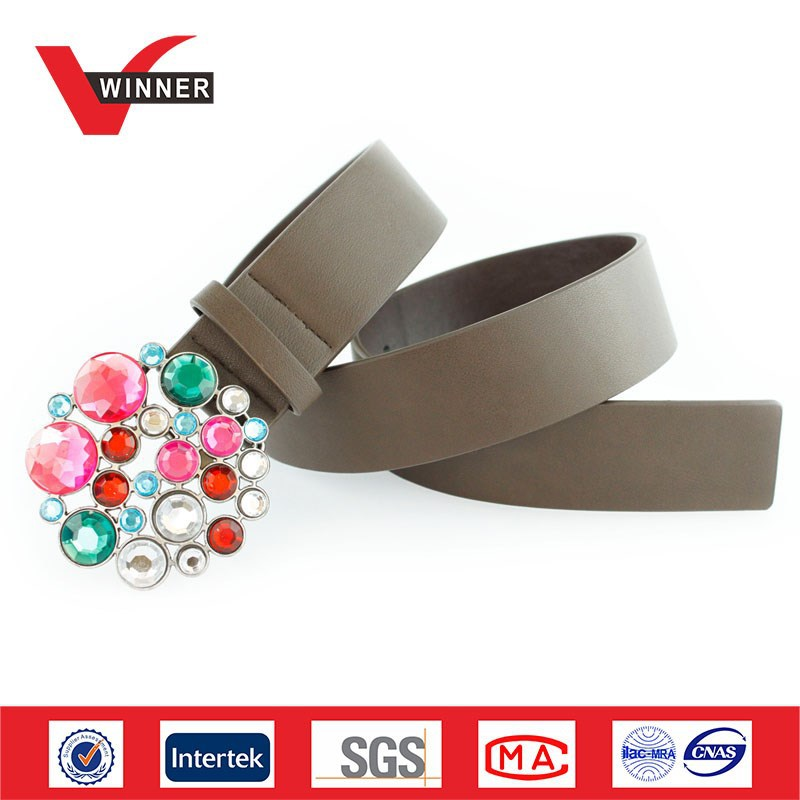 Factory Made ODM Rhinstone PU Belts