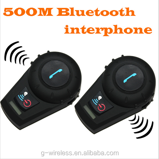 AutoStyle 2pcs a pair Hands free 500m BT 500M Motorcycle Bluetooth 3.0 Multi Interphone Headsets Helmet Intercom BT Bluetooth