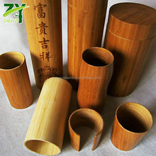 Hot Sales ! ZY-810 Natural Bamboo Cylinder Bamboo Tubes Bamboo Container for Sale in Factory Low Price !!!