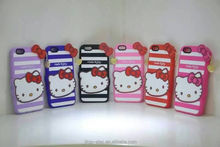 phone case hello kitty 3d silicone case for iphone 4 4s, for iphone case 4s 5s 6 ,for iphone 4s case hello kitty