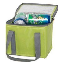 Wholesale promotional custom printed outdoor cheap 6 wine bottle picnic insulated nylon lunch cooler bag