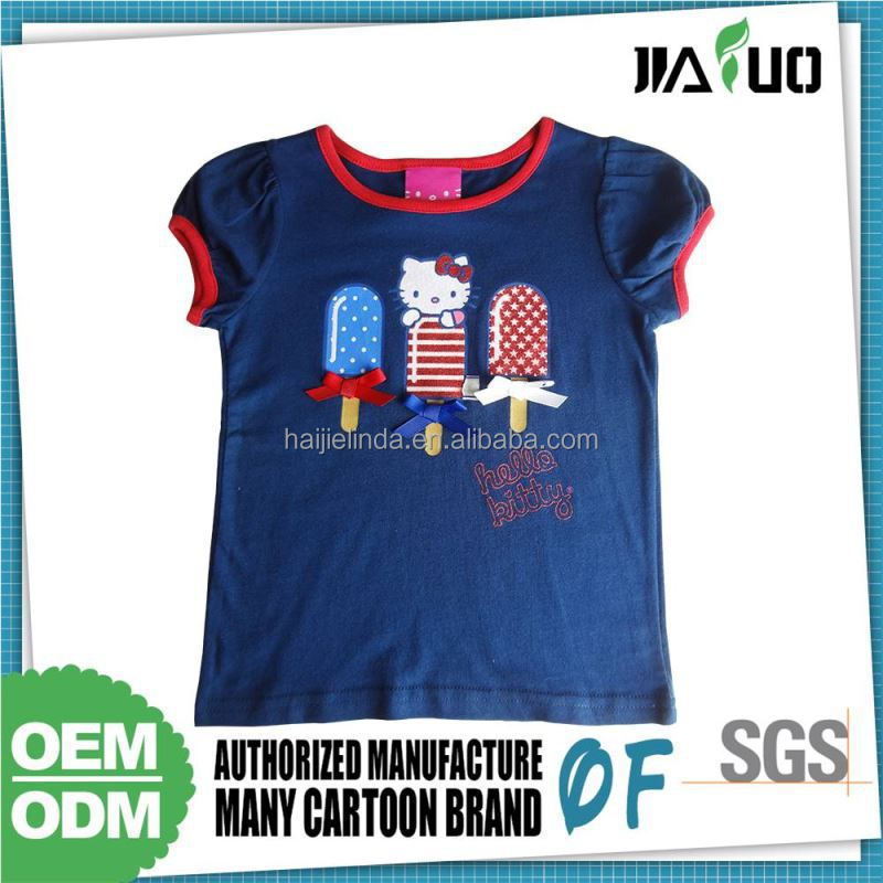 Hotselling 65%Cotton 35% Polyester Tee Shirts For Child