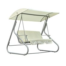 3 Person Outdoor porch garden Patio Swing Chair with Canopy Shade