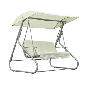 3 Person Outdoor porch garden Patio Swing Chair with Canopy Shade hanging