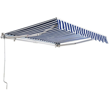 Aluminum motorized garden retractable awning