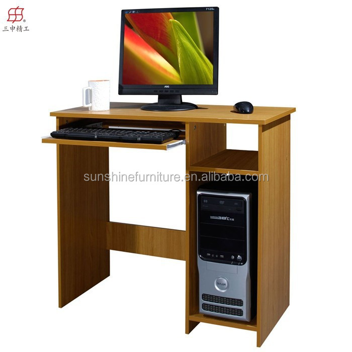 home office work workstation PC laptop cheap wooden computer desk