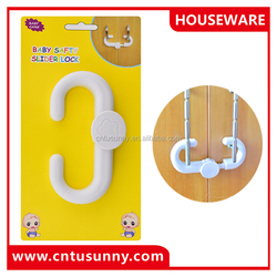 high quality hot sale plastic cabinet sliding lock easy installation