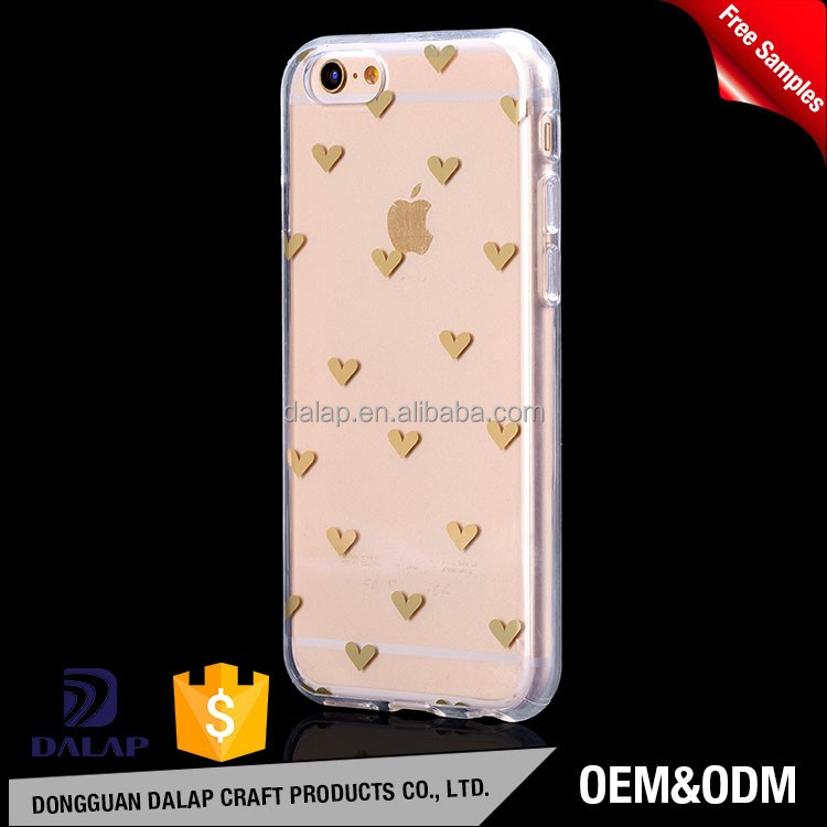 Gold color case for iphone 7 tpu