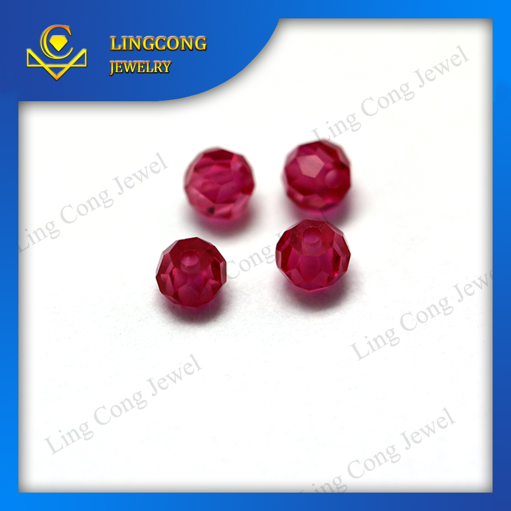 machine cut 2mm hole beads gemstone