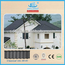Alum-zinc 0.42mm thickness Material and Modern Classical Color stone metal roof tile