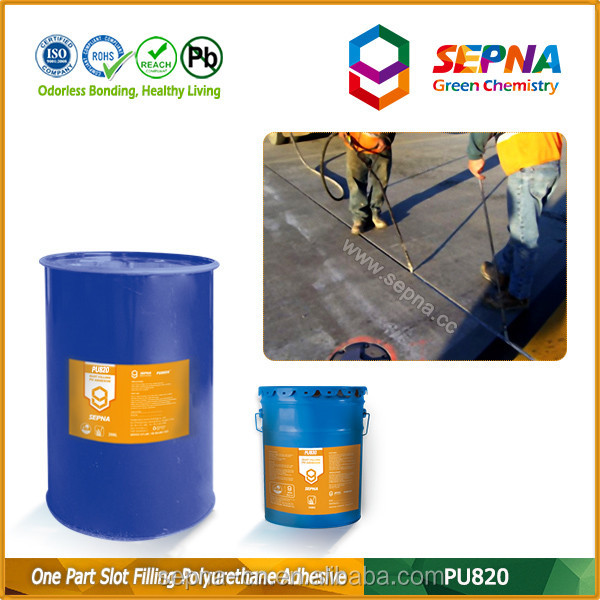 ready-to-use self-leveling polyurethane sealant for horizontal joints in chemical and industrial environments PU820 CR125